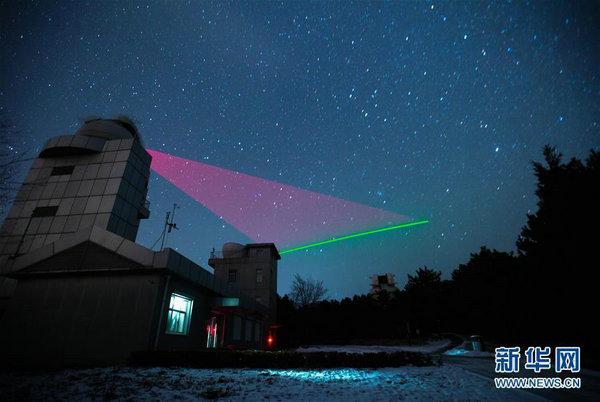 中国首颗量子卫星测试画面公布