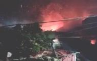 泉州一直升机坠毁火光四射