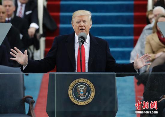 特朗普就任美总统 白宫发布新施政纲领宣布将退TPP