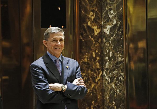 美国白宫国家安全顾问弗林。