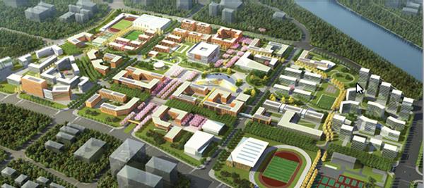 规划效果图 中国人民大学东校区(通州新校区)筹备工作办公室网站 图