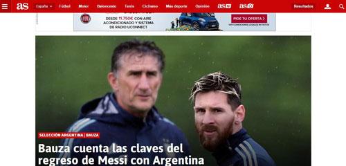 阿根廷主帅揭秘梅西归队原委 没有人比他更爱国