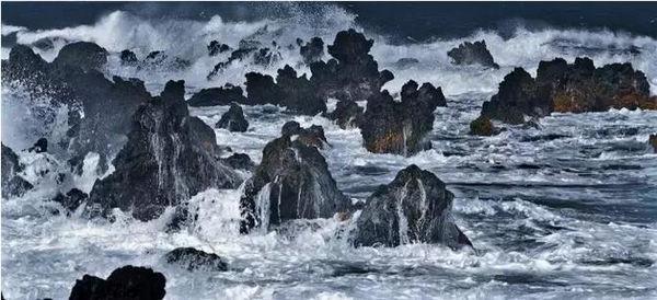 杨元惺展品《惊涛裂岸》