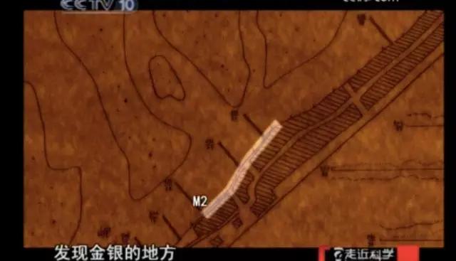 """2009年,中央电视台《走近科学》节目公布的""""藏宝图""""。图片来自网络。"""