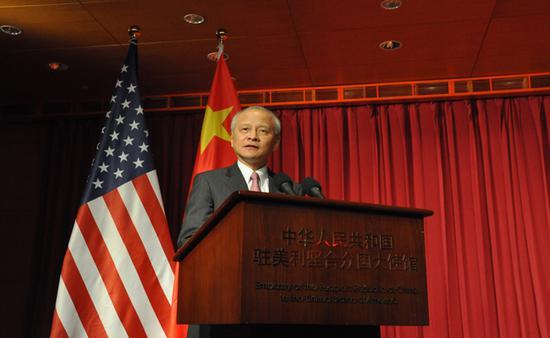 24日晚,中国驻美大使馆举行春节招待会