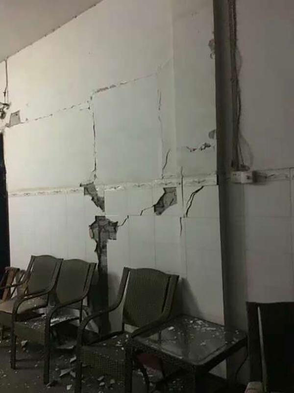 筠连县乐义乡白云村的部分房屋受损。