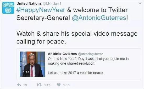 圣诞节的联合国推特