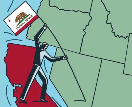 """""""加州独立""""的漫画"""