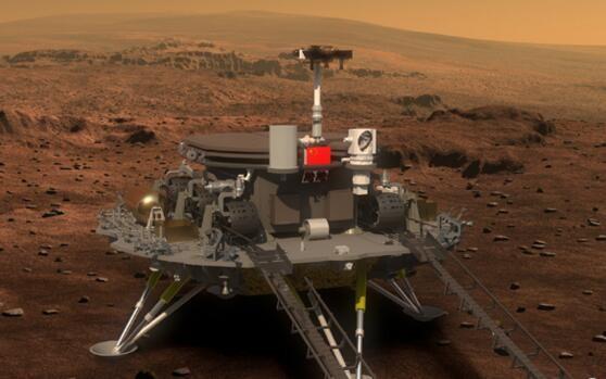 资料图:中国火星探测器想象图。
