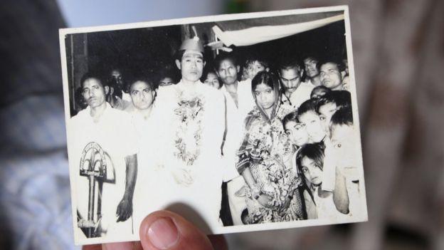 王琦1975年结婚时的照片
