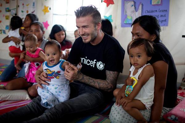 贝克汉姆作为UNICEF形象大使