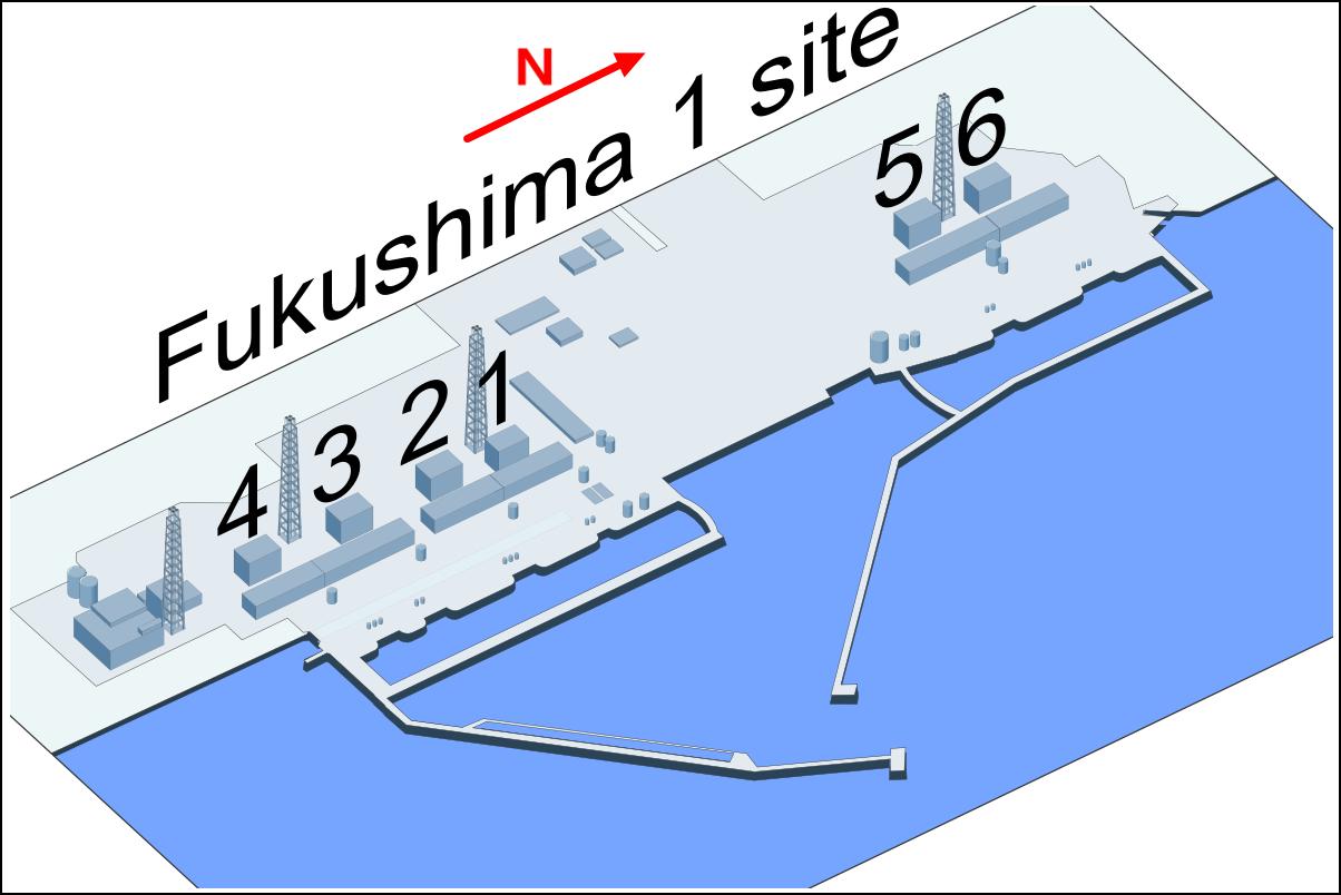 福岛第一核电站共有6台机组