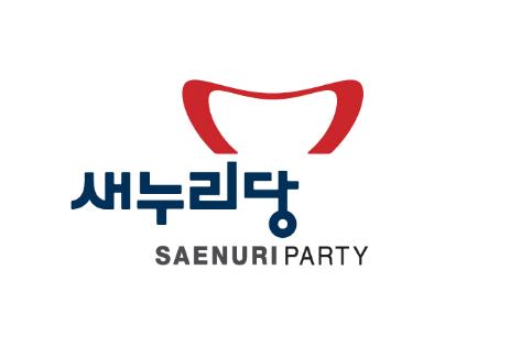 """新国家党的""""微笑嘴型""""红色徽标"""