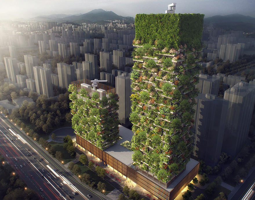 """南京""""垂直森林""""引外媒关注 建筑落成后将有效改善城市环境"""