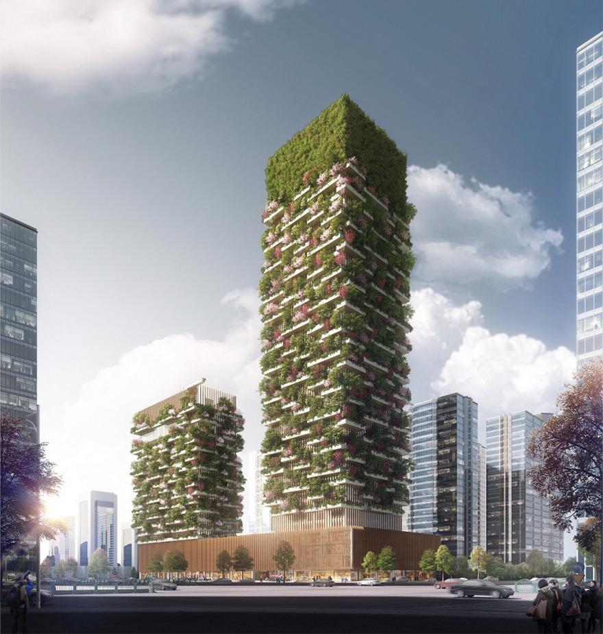 据悉,高塔楼将会有办公室、博物馆和绿色建筑学校,而低塔楼为Hyatt五星级酒店。