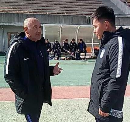 Warm-up - tan wangsong the break The teda 1-3 busan six consecutive defeat