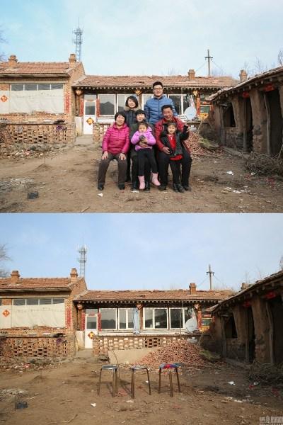 2017年2月3日,河北张家口新启齿村,郝靖一家的百口福。老屋子,独特是几座西房,这些年不清楚曾经坍塌了几屡次,修补了几多回。每一年只要过年住十来天,以是屋子坏得尤其快。节后,咱们又回到北京,开端了一年的事情和奔走。老屋子又开端了快要一年的沉寂。
