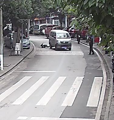 大庆市新闻网:男孩撞上面包车被弹出 滚到路边躲过后车碾压