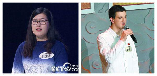 《中国诗词大会》上,新加坡才女李宜幸和美国小伙伍淡然都给中国观众留下了深刻印象
