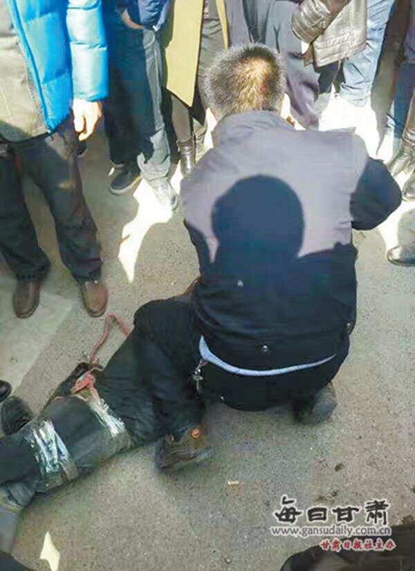 警方抓获犯罪嫌疑人。