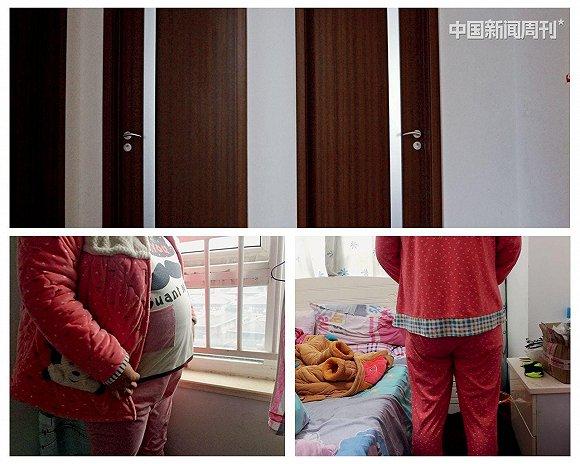 (上图)陈芳住在一套三居室内,同住的还有另外两名代妈,但都拒绝与记者接触,闭门不见。经过一番沟通,她们同意了由AA69公司后勤人员代为拍摄一张不带脸部的照片。摄影/冉文