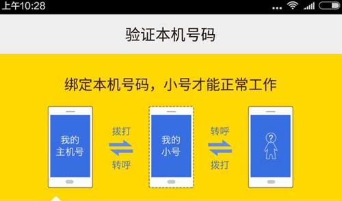 某款手机小号软件上介绍手机小号工作流程。软件截图