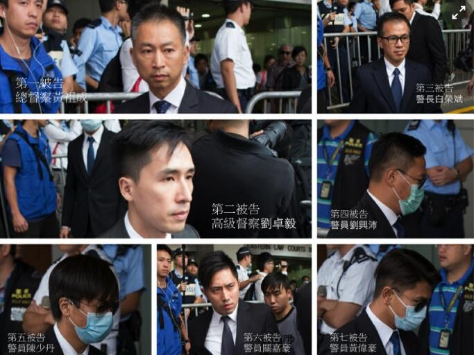 今日(17日)上午,区域法院法官宣判,7人各被判两年、而陈少丹的普通袭击罪则另判一个月、同期执行。