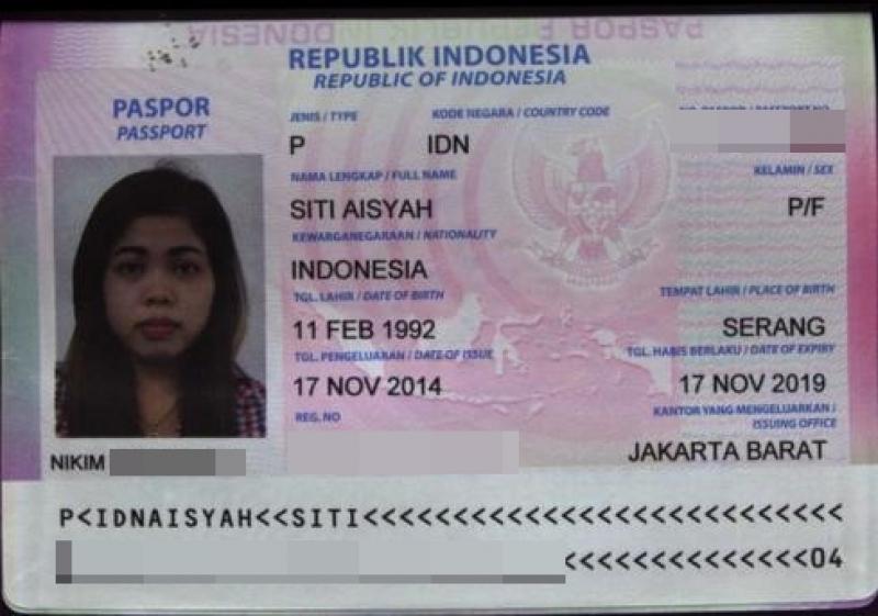 图为女嫌犯护照
