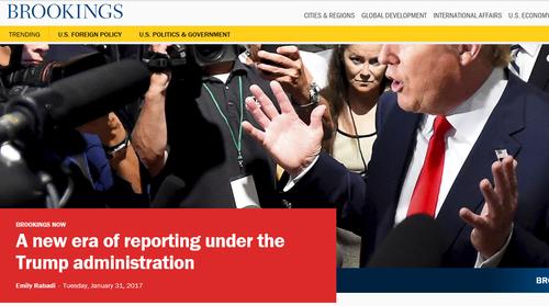 布鲁金斯学会网站专门就特朗普时代的新闻报道这一主题刊登专家观点。