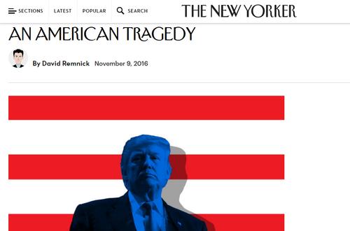 《纽约客》在特朗普胜选第二天以《美国悲剧》为题刊发报道。