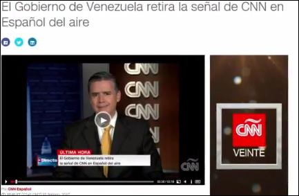 CNN西班牙语网站引用其西语频道画面报道截图