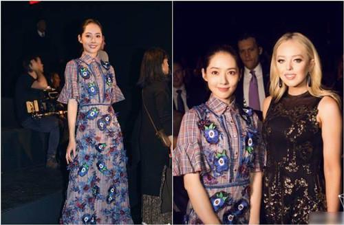 郭碧婷纽约时装周飘仙气 与川普二女儿相谈甚欢