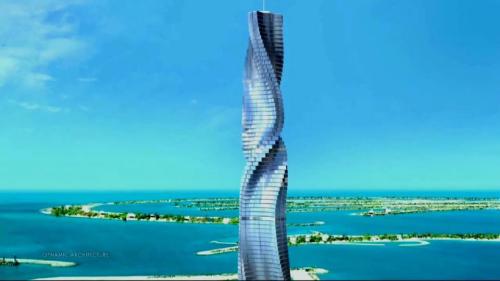 这个神奇的酒店全幢楼高80层,高约为458.33米,每个住房分布在不同楼层。