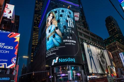 李玟演唱会广告登上纽约时代广场