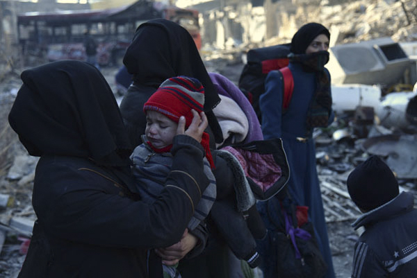叙利亚政府表示支持重启和谈(部分) 新华社 杨臻 摄