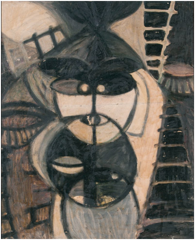 加清纯子的绘画作品《墓段》