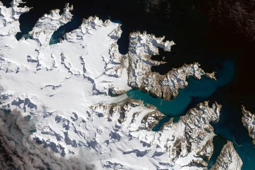 �l星拍照的南�O�~梅耶冰川�D象。NASA