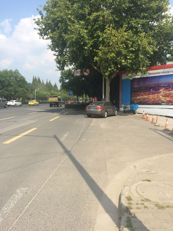 事发的南京林业大学北二门附近。邱海鸿 澎湃资料