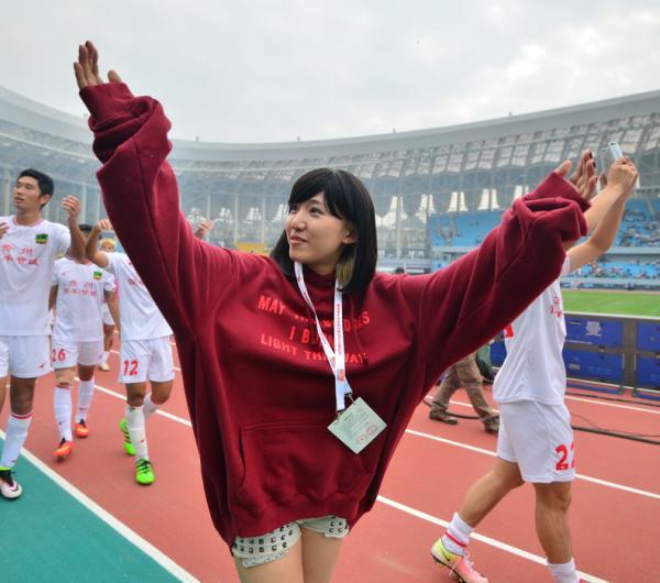 文筱婷经常出现在贵州智诚的比赛现场。