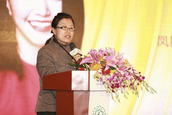 中国针织工业协会副会长瞿静致辞