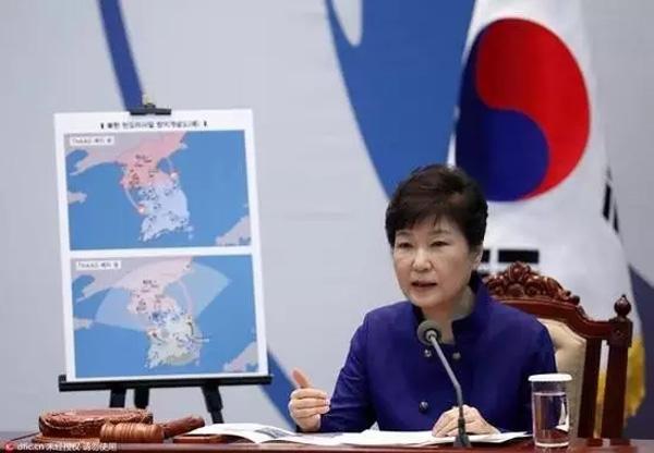"""2016年7月21日,朴槿惠在国家安全保障会议上继续强调部署""""萨德""""的必要性,并表示不会屈服于任何压力。"""