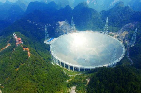 世界最大单口径射电望远镜景区免费开放。资料图