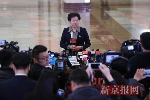 中国气象局局长刘雅鸣。新京报记者 薛�B 摄