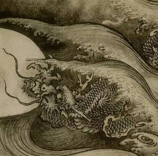 陈容《六龙图》(局部)