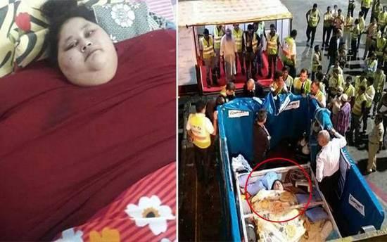 世界最胖女性26天减120公斤:曾被起重机吊起送医
