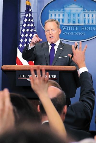 白宫发言人斯派塞。