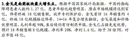 中国抗ED药物市场的确有着巨大的潜力。有关数据统计,中国的ED患者人数约为1.27亿,新发ED患者有1/4为40岁以下的年轻患者,其中有近一半为重度ED。随着大众健康意识不断提升,未来潜在市场规模有望达到百亿元。