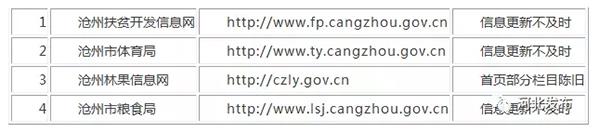 衡水市人民政府办公室关于2017年第一次全市政府网站抽查情况的通报