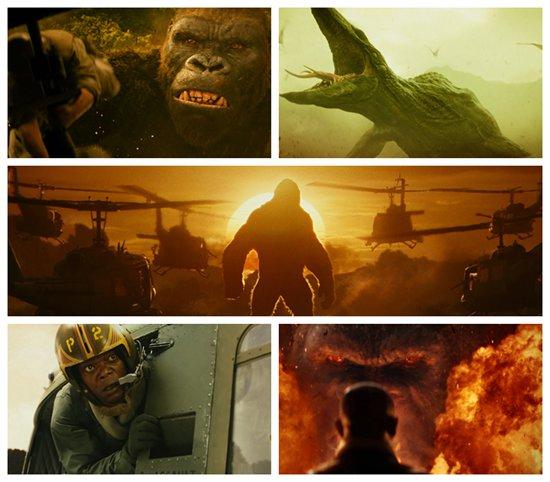 金刚除了忙于和人类周璇,还要对付来自海陆空的各种怪兽