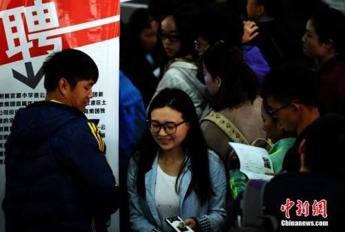 资料图:3月10日,昆明一招聘会现场。中新社记者 李进红 摄